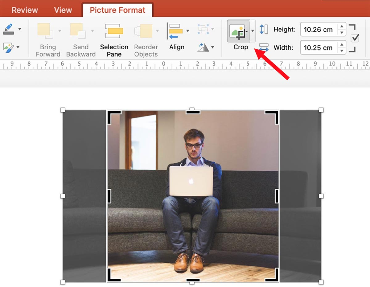 Resizing an Image in PowerPoint
