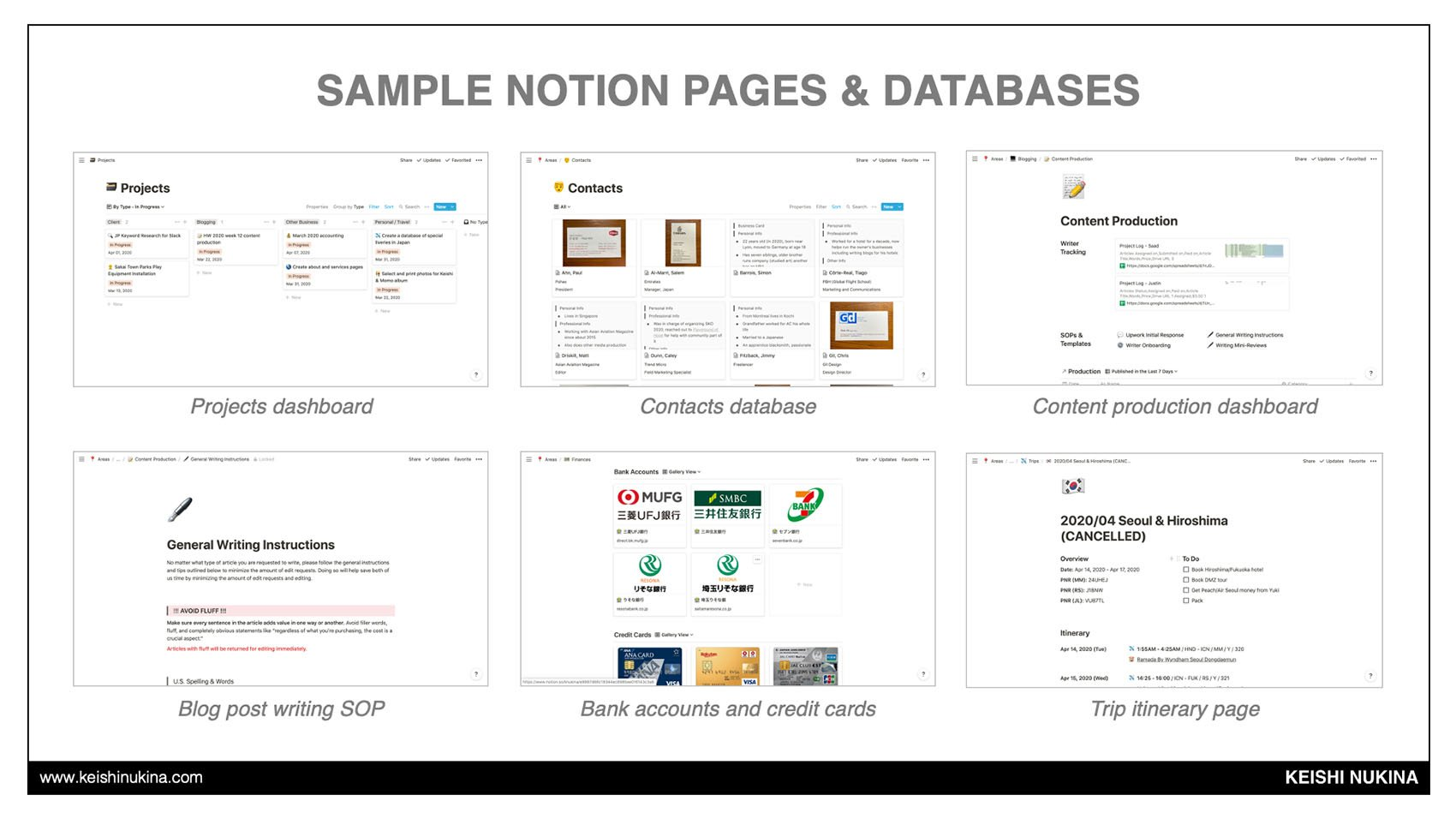 Sample Notion Pages